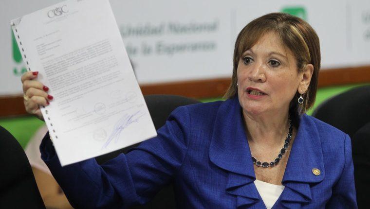 María Eugenia Villagrán renunció a la PGN, luego de 17 meses al frente de la institución. (Foto Prensa Libre: Hemeroteca PL)