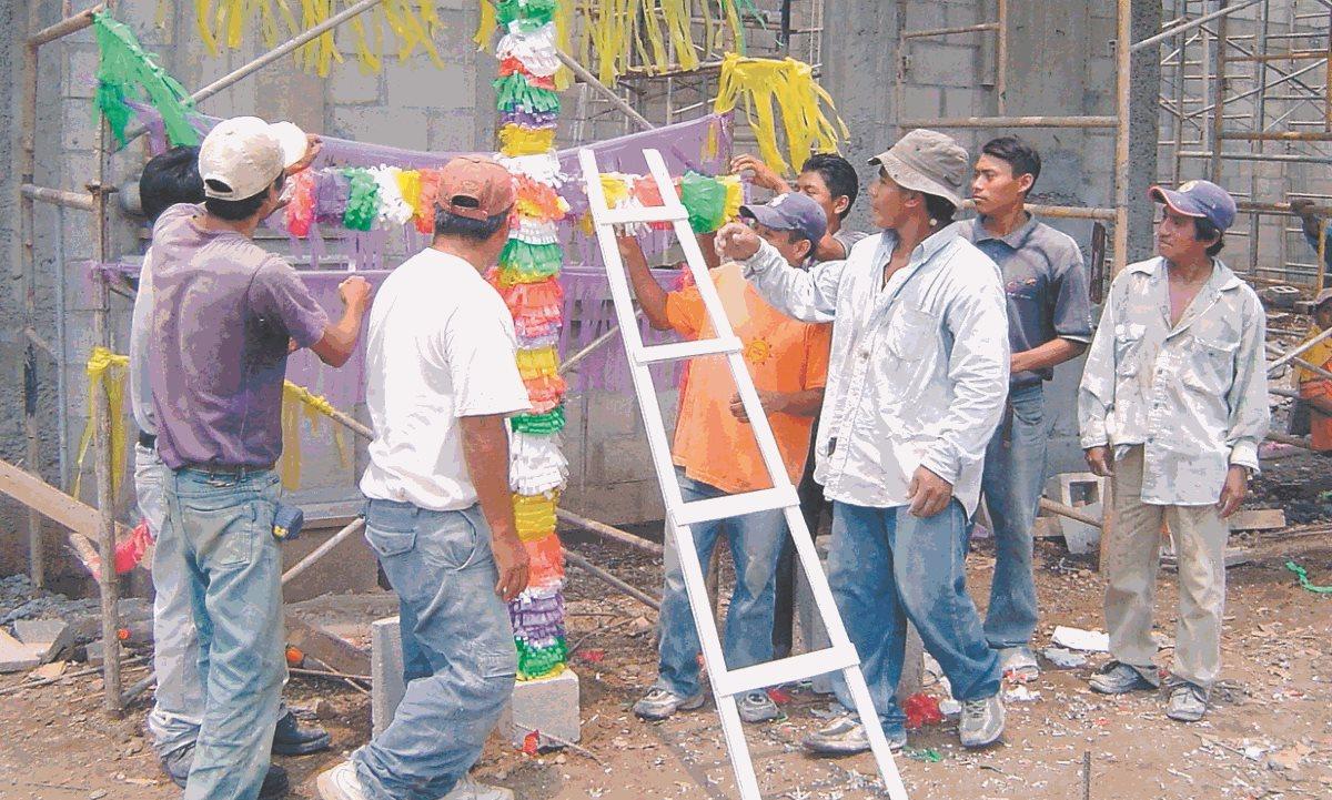 El gremio de la construcción se encuentra de fiesta