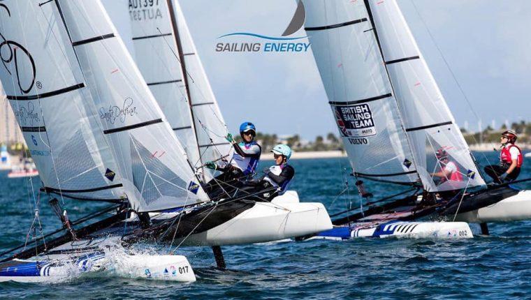 Jason Hess y Katya Castellanos aseguran el boleto a los Panamericanos de Lima. (Foto cortesía Sailing Energy).