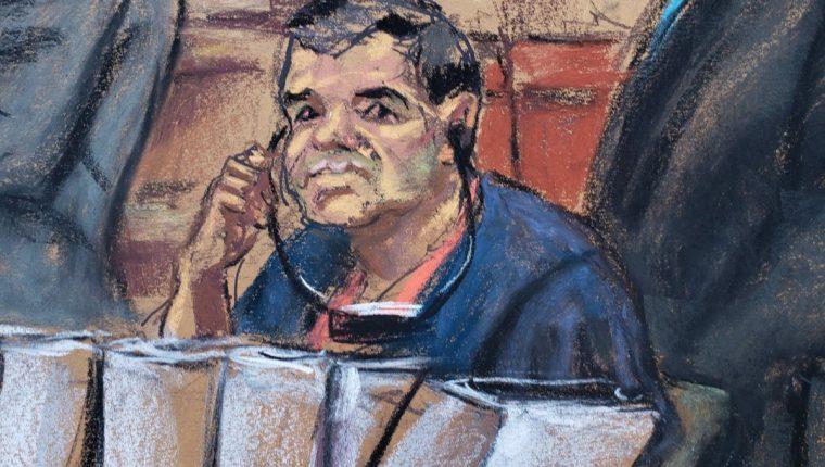 """""""El Chapo"""" Guzmán es juzgado en una corte de Nueva York. (Foto Prensa Libre: Hemeroteca PL)"""