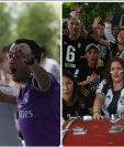 Seguidores guatemaltecos del Real Madrid y de la Juventus disfrutan de la final de la Champions. (Foto Prensa Libre: ACAN-EFE)