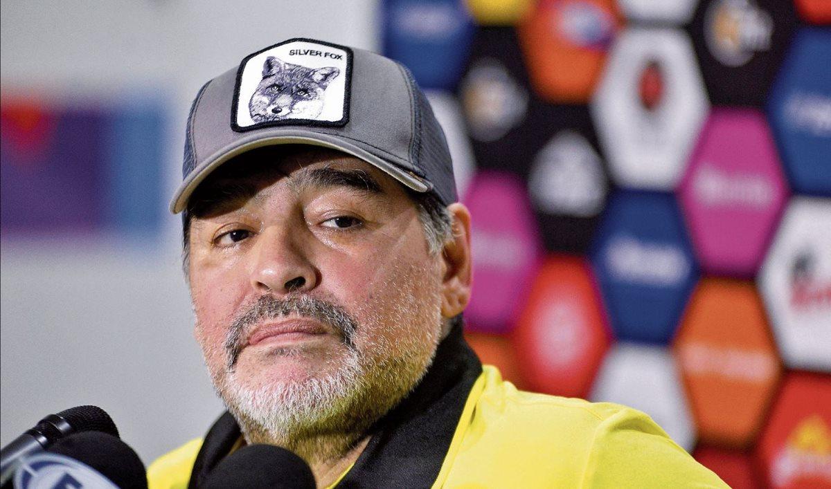 El futuro de Diego Armando Maradona en el futbol mexicano es incierto. (Foto Prensa Libre: Hemeroteca PL)