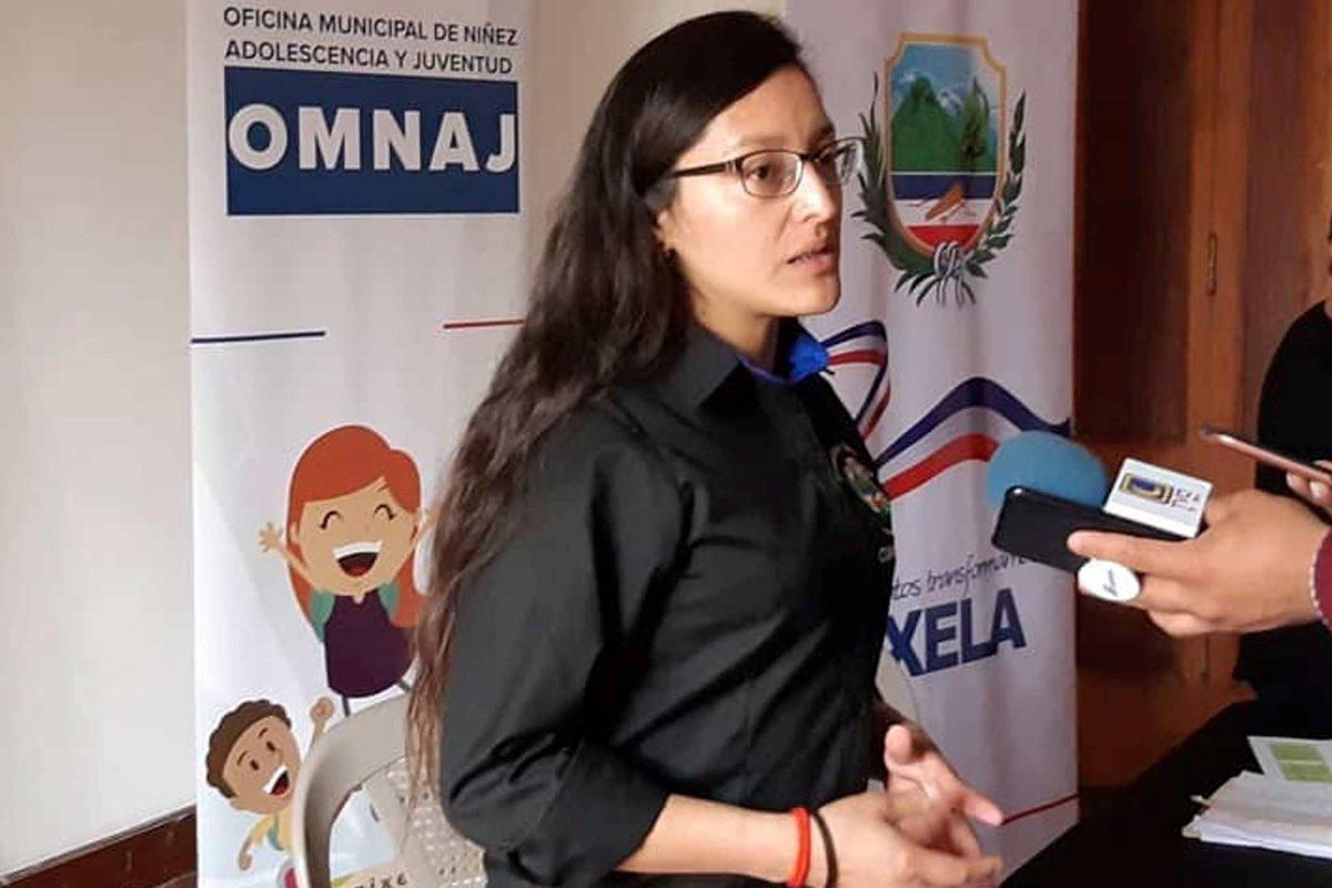 La concejal Mirta durante una entrevista en 2018. (Foto Prensa Libre: cortesía)