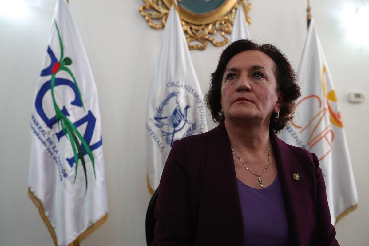 Anabella Morfín sale del cargo con tres casos en proceso. (Foto Prensa Libre: Hemeroteca PL)