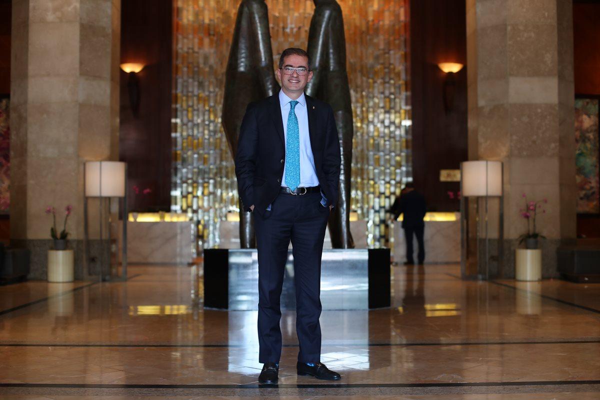 Alfonso Martínez Guerrero, gerente general del Hotel Intercontinental en Guatemala. (Foto Prensa Libre: Paulo Raquec)