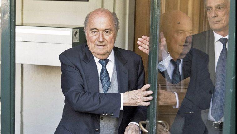 Joseph Blatter afirma que es al futbol y los futbolistas a los que más se persigue en casos de corrupción. (Foto Prensa Libre: Hemeroteca PL)