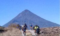 En Quetzaltenango se puede observar el volcán Santa María.