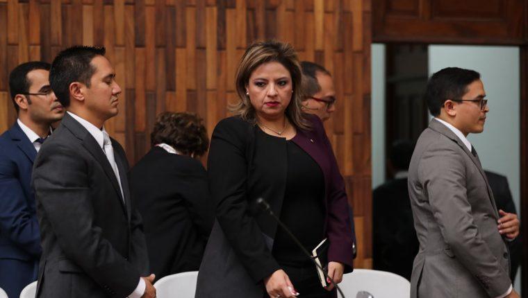 Canciller Sandra Jovel reclama la potestad de pedir el retiro del embajador sueco. (Foto Prensa Libre: Érick Ávila)