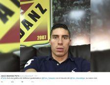 Esta fue la fotografía que el periodista Jesús Bastidas Parras colgó en su cuenta de twitter cuando dio la noticia del jugador nacional. (Foto Prensa Libre: twitter)