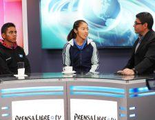 José Raymundo y Maritza Poncio durante la Entrevista de Tododeportes. (Foto Prensa Libre:Francisco Sánchez).