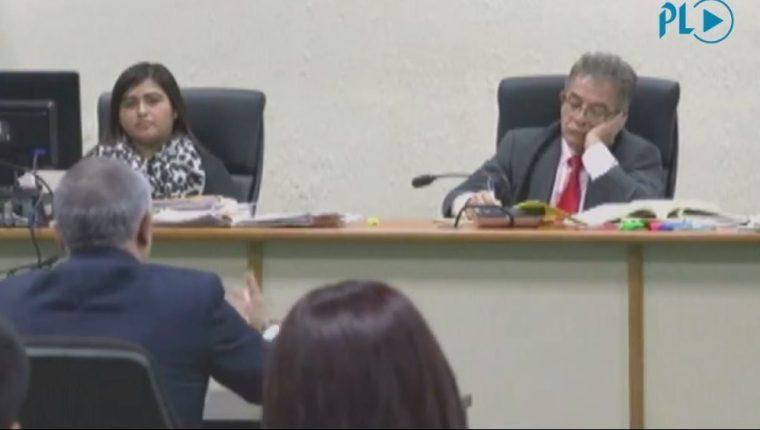 Juez Miguel Ángel Gálvez escucha declaración de Salvador González, alias Eco, por caso Cooptación del Estado. (Foto Prensa Libre)