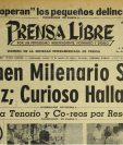 Portada del 21/8/1956 daba a conocer sobre un crimen milenario luego de haberse hallado un esqueleto maya. (Foto: Hemeroteca PL)