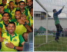 Guastatoya y Sanarate están en la fase final en gran parte por el aporte de sus porteros, Paredes y Motta. (Fotos Prensa Libre: La Red y Jorge Ovalle)