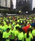Este sábado se corre la sexta edición de los 10K Nocturnos de la ciudad de Guatemala. (Foto Hemeroteca PL).