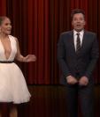 Jennifer López volvió a destacar en el programa de Jimmy Fallon (Foto Prensa Libre: YouTube / The Tonight Show).