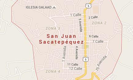 El hecho ocurrió en el caserío Sacatón, San Juan Sacatepéquez. (Foto Prensa Libre: Google Maps)