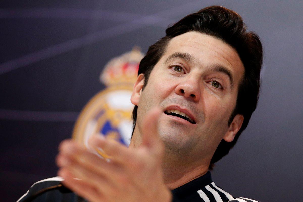Santiago Solari, entrenador del Real Madrid, habló en conferencia de prensa este miércoles. (Foto Prensa Libre: EFE)