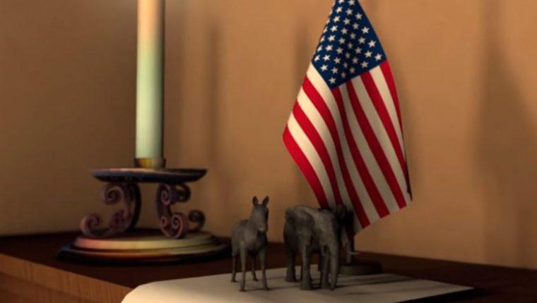 La historia del burro demócrata y el elefante republicano, se remonta al siglo 19. (Foto Prensa Libre: AFP).