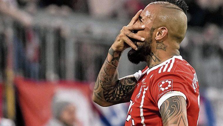 El jugador chileno del Bayern Múnich, Arturo Vidal, vivió el partido de manera intensa. (Foto Prensa Libre: Hemeroteca PL)