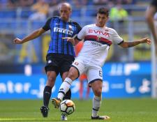 El delantero italiano, Pietro Pellegri, es considerado el Messi del Génova, y ha conquistado con sus goles. (Foto Prensa Libre: AFP)