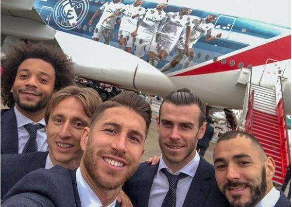 Los jugadores del Real Madrid ya están en Abu Dabi. (Foto Prensa Libre: Real Madrid)