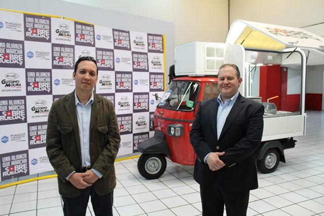 Luis Roberto Méndez, gerente de Mercadeo Regional de Cadisa, y Andrés Molina, director del Grupo Gustavo Molina.
