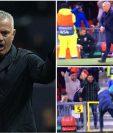 José Mourinho perdió el control en la anotación del triunfo de United contra Young Boys. (Foto Redes).