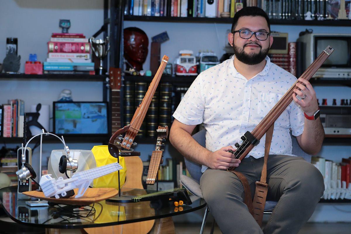 Juan Carlos Noguera estudió en la Escuela de Diseño de Rhode Island. Foto Prensa Libre: Álvaro Interiano.