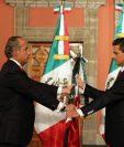 Felipe Calderón (izquierda) y Enrique Peña Nieto. (Foto: AFP)
