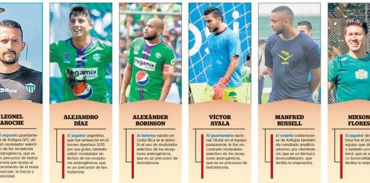 Los seis futbolistas fueron citados para este jueves en la Federación de Futbol. (Foto Prensa Libre: Hemeroteca)
