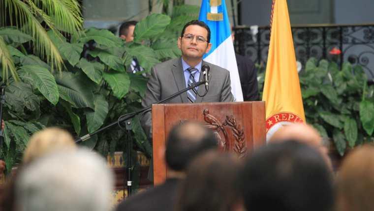 El presidente, Jimmy Morales, decretó estado de Prevención en todo el país. (Foto Prensa Libre: Hemeroteca PL)