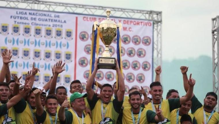El campeón Guastatoya tendrá su primera participación internacional el próximo año por la Concacaf. (Foto Prensa Libre: Hemeroteca PL)