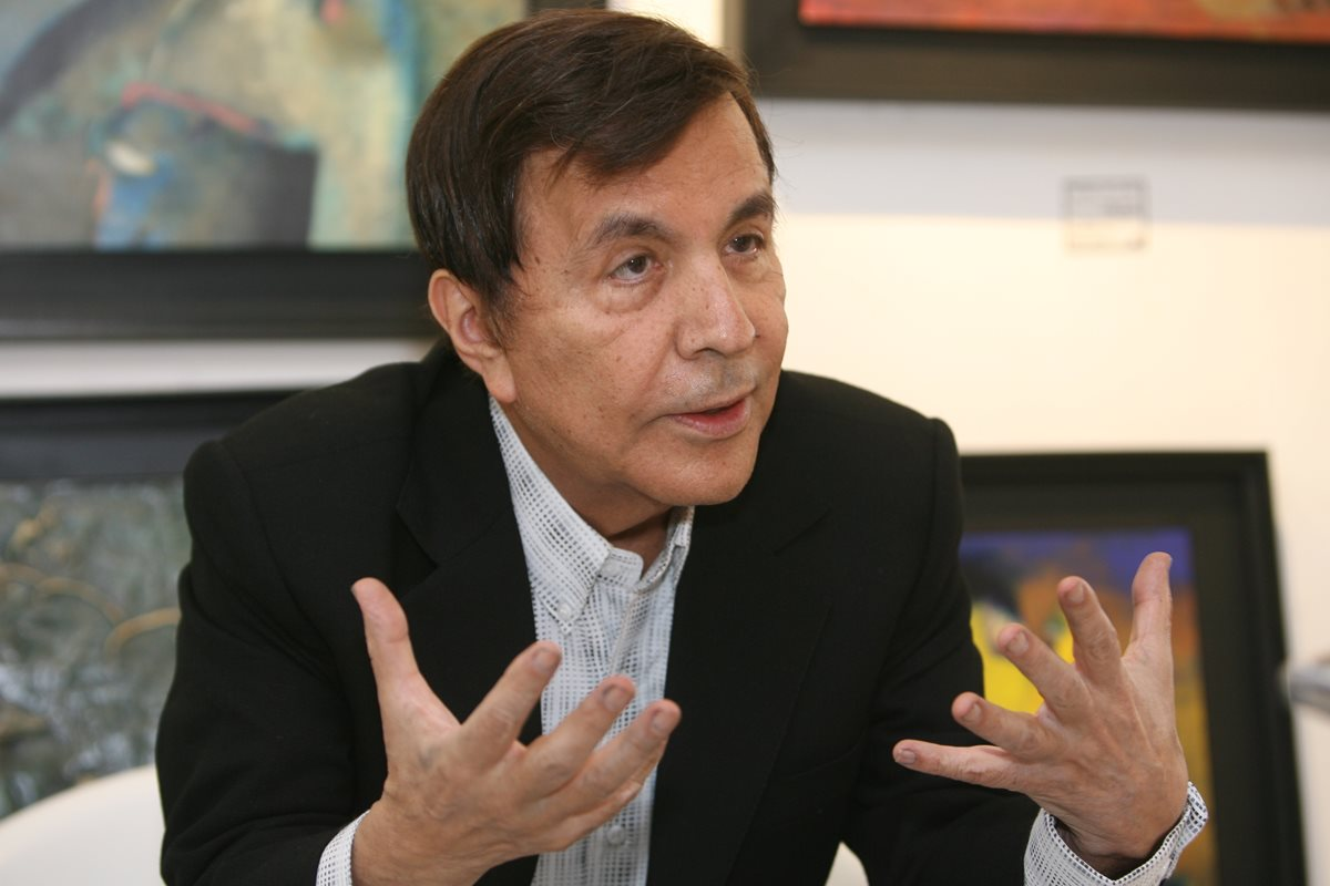 Elmar Rojas fue reconocido por sus obras pictóricas a nivel nacional e internacional.(Foto Prensa Libre: Esbin García)