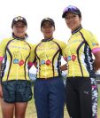 Cinthya Lee, Flory de León y Gabriela Soto siguen en la preparación para la temporada 2018. (Foto Prensa Libre: Raúl Juárez)