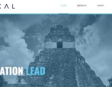 Portada del sitio web de Tikal, la compañía que se inspiró en la ciudad maya, creada por XumaK (Foto Prensa Libre: Tikal).