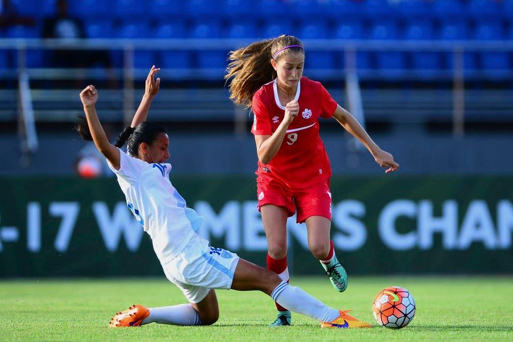El equipo de Guatemala no pudo contra Canadá en el premundial Sub 17. (Foto Prensa Libre: Federación de Canadá)