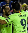 Leo Messi y Luis Suárez han sido una de las mejores duplas en la historia para el Barcelona. (Foto Prensa Libre: AFP)