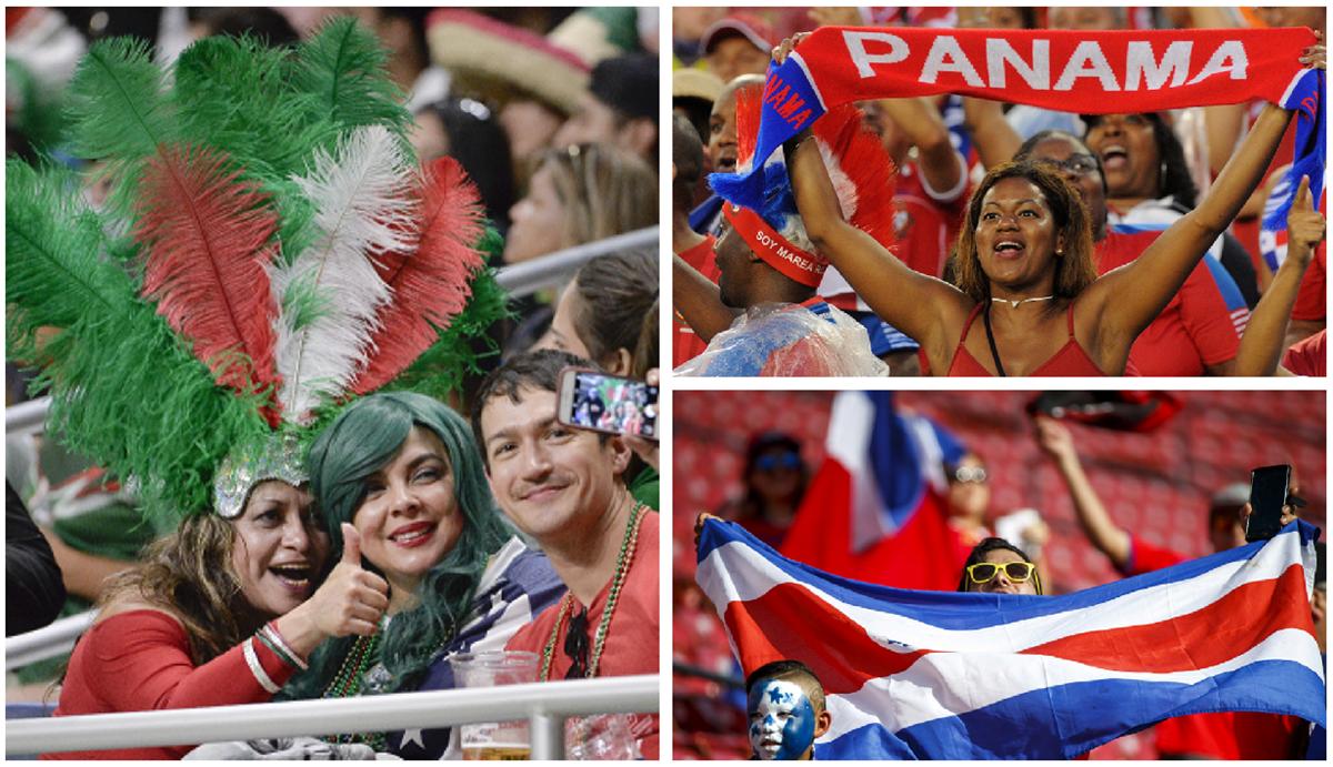 Los aficionados mexicanos, costarricenses y panameños han disfrutado y sufrido los partidos de sus selecciones en la Copa Oro 2017. (Foto Prensa Libre)