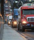 El transporte pesado no podrá circular libremente durante las festividades de fin de año. (Foto Prensa Libre: Hemeroteca PL)