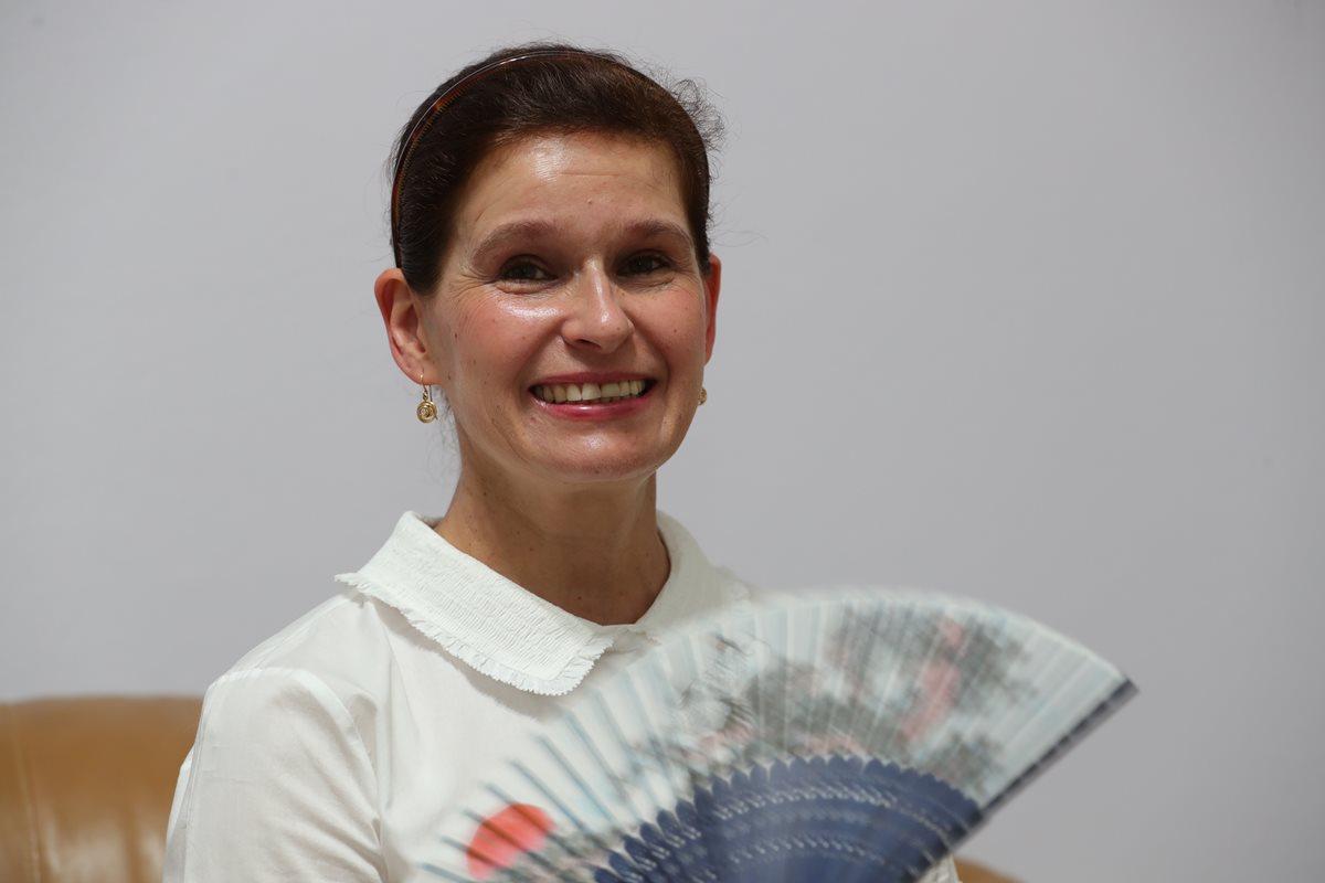 Anastasia Khokhólikova, esposa del embajador de la Federación de Rusia en Guatemala, Alexánder Khokhólikov. Foto Prensa Libre: Estuardo Paredes.
