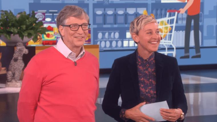 Bill Gates y Ellen DeGeneres jugaron a adivinar precios, donde no le fue muy bien al empresario (Foto Prensa Libre: YouTube).