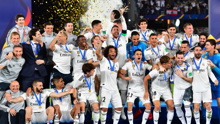 El Real Madrid se consagro por tercer año consecutivo en la Champions y el Mundial de Clubes. (Foto Prensa Libre: AFP)