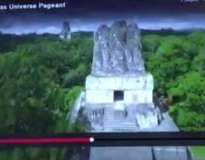 Esta imagen de Tikal fue la que se mostró en la presentación de Miss México.