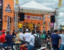 Aspecto de la actividad realizada por Motos Freedom
