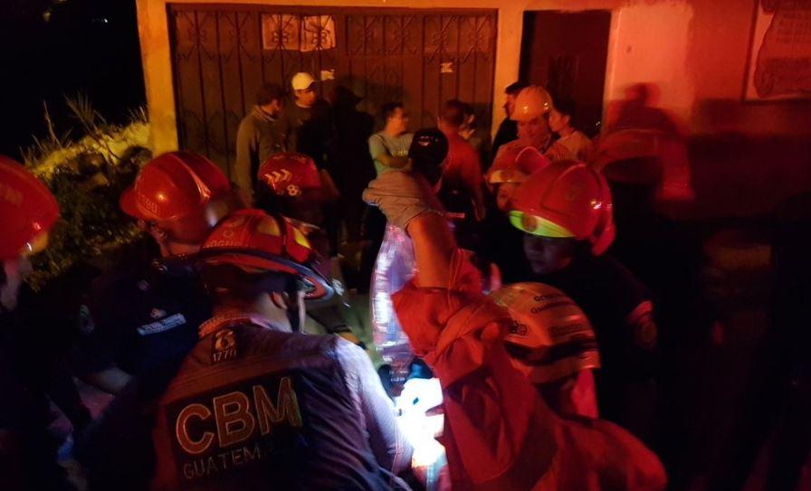 Una menor muerta y 10 heridos deja derrumbe en la zona 6