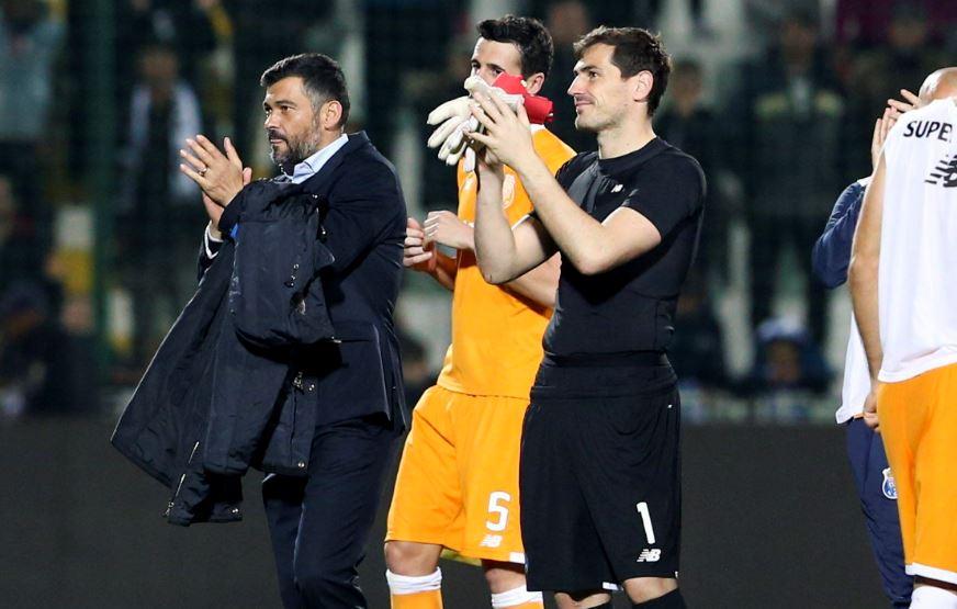 Casillas dejó el Real Madrid y se unió al equipo portugués en 2015 pero no tuvo una era espectacular. (Foto Prensa Libre: EFE)