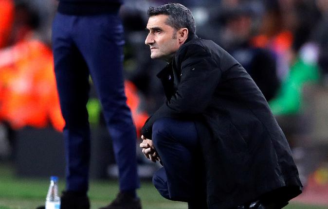 El entrenador Ernesto Valverde está satisfecho con el desempeño de sus jugadores. (Foto Prensa Libre: EFE)