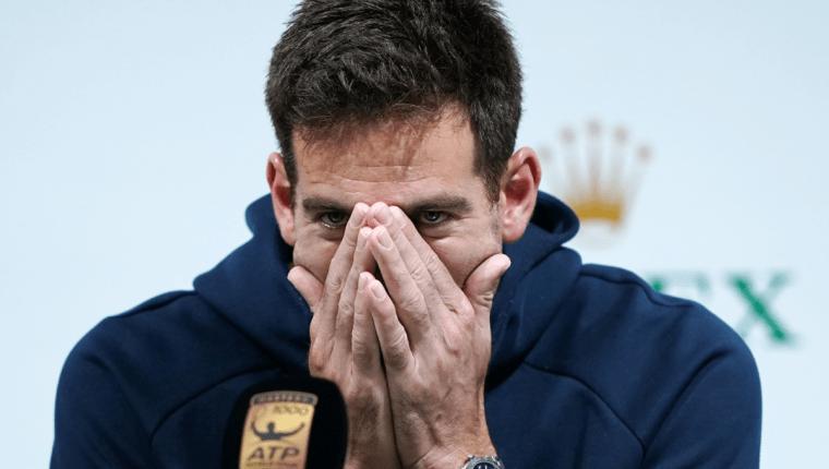 El tenista argentino Juan Martín del Potro no sabe cuándo volverá, tras sufrir una fractura en la rótula. (Foto Prensa Libre: AFP)