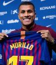 El colombiano Jeison Murillo fue presentado este jueves como jugador del Barcelona. (Foto Prensa Libre: AFP).