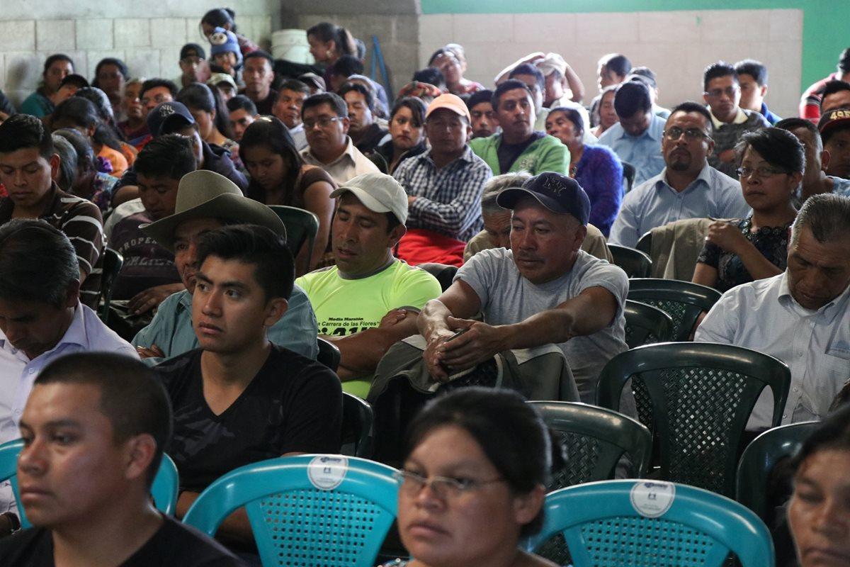 Comunidad le dice no a la instalación de una empresa en Santa Rita, Salcajá, Quetzaltenango. (Foto Prensa Libre: María José Longo)